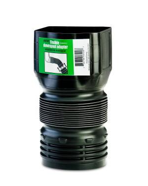 Inch corrugated drain pipe 3x4 inch down spout to 4 inch corrugated